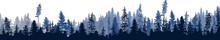 Dark Blue Fir Forest Stripe Is...