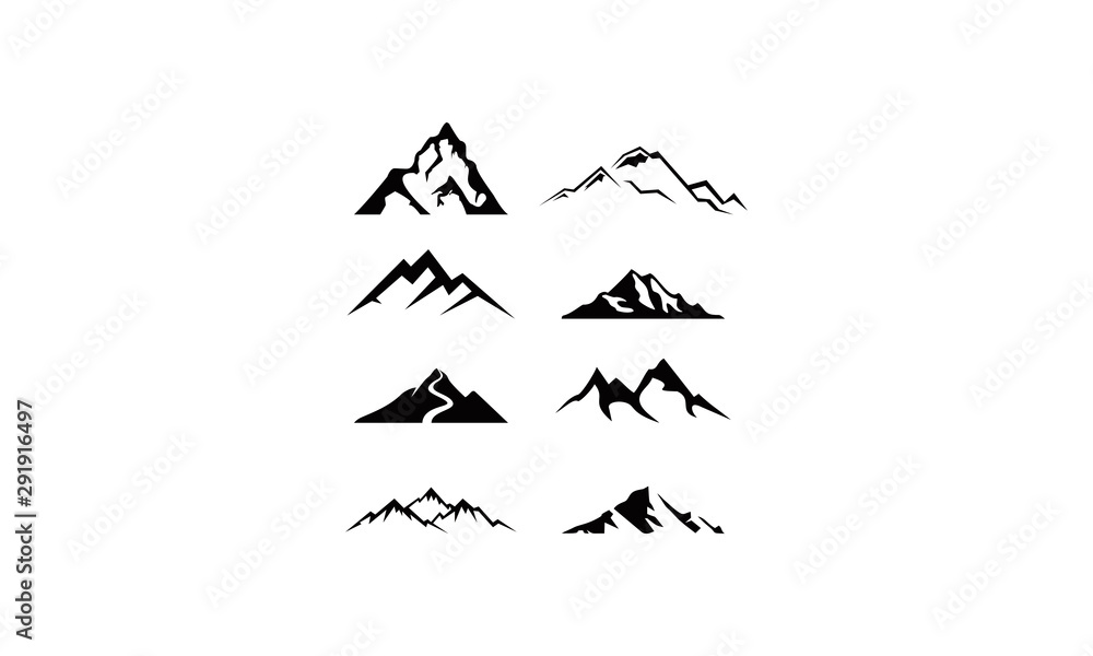 Fototapety, obrazy: logo set mountain vector