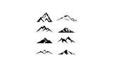 logo set mountain vector
