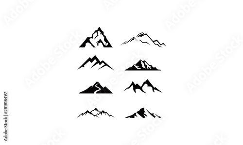 logo set mountain vector