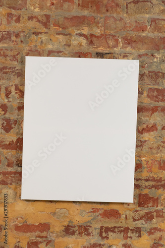 Foto op Plexiglas Historisch geb. Blank canvas and brick wall