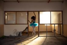 Female Dancer In An Empty Ware...