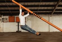 Male Dancer In An Empty Wareho...