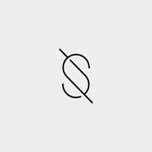 Letter S SS Logo Design Simple...