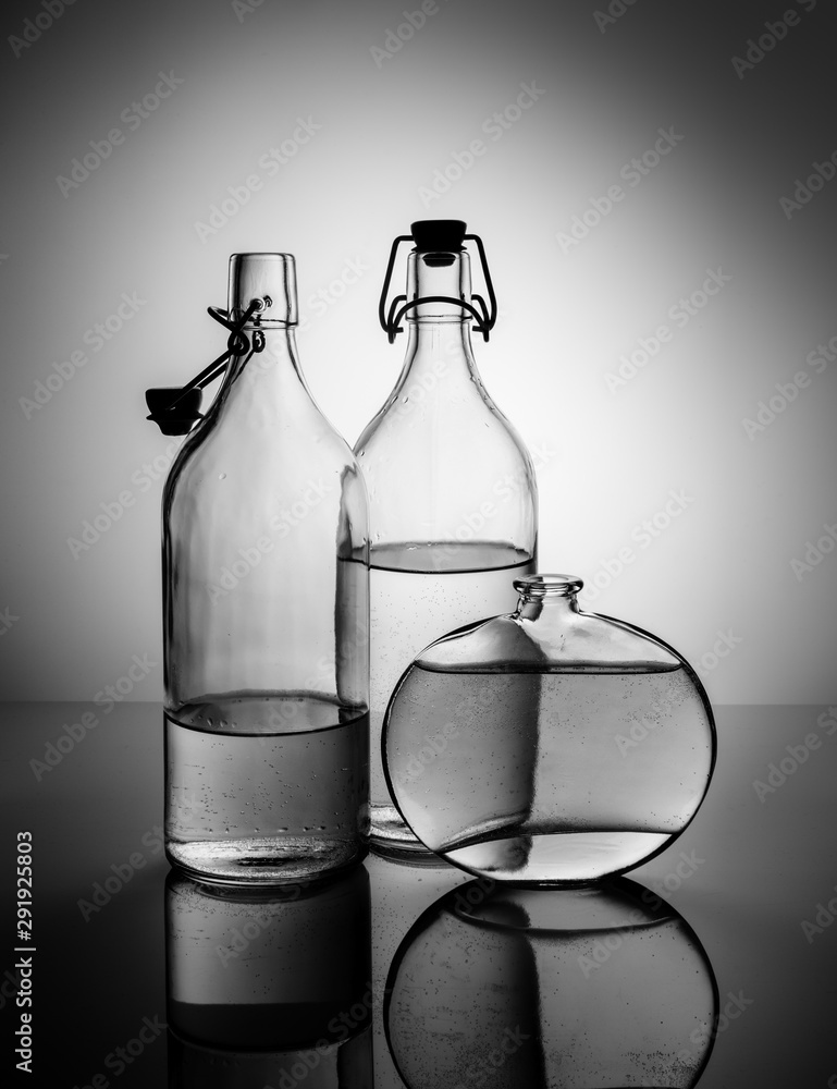 Fototapeta Still Life with Glass Bottles