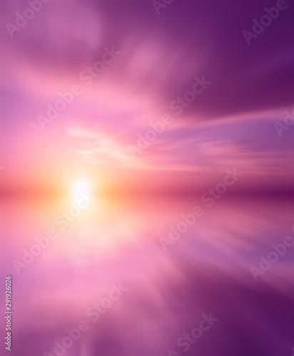 Photo sur Aluminium Rose banbon Beautiful pink sea sunset.