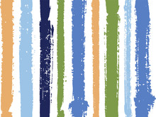 Vertical Stripes Of Thick And Thin Paint Or Ink Lines Seamless Vector Pattern Design
