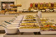 buffet meals in a hotel