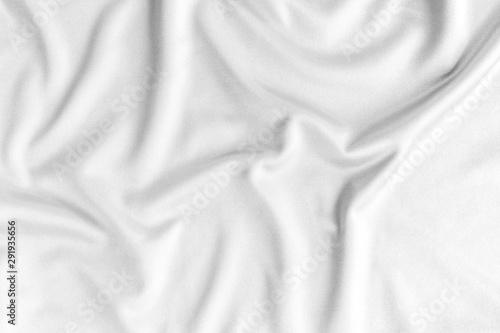 Fotografiet  white silk fabric background