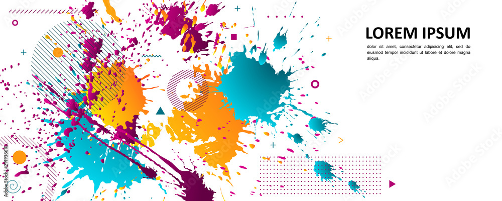 Fototapety, obrazy: Abstract background - bright spots of paint.