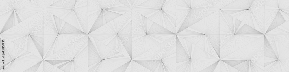 Fototapeta White Wide Abstract Background (Website Head) (3d illustration)
