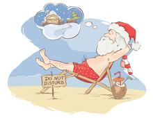 Santa Claus Beach Vacation / F...