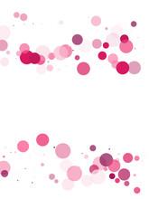 Polka Dots Confetti Vector Bac...