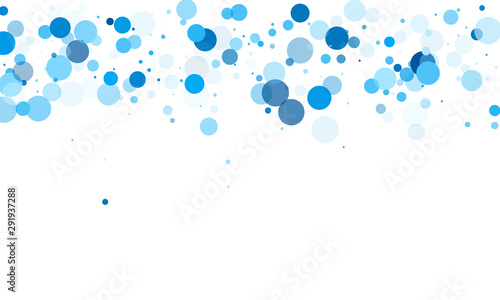Colorful circle confetti vector background Canvas Print