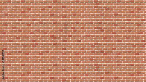 Photo sur Toile Brick wall Brick wall pattern background, Old grunge tone brick wall texture, Digital painting illustration.