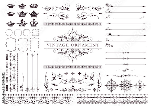 Cuadros en Lienzo Vintage ornament set04