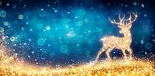 Christmas - Magic Golden Deer ...
