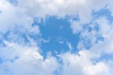 Light Cloud Frame Against The Blue Sky.