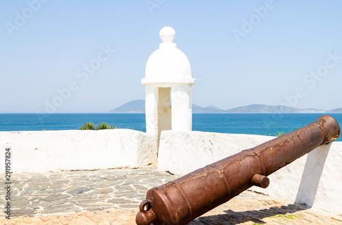 Photo  Cabo Frio, Rio de Janeiro, Brazil - Sept 19, 2019: Sao Mateus Fort, heritage of the colonial period
