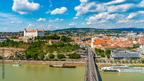 Photo  Panoramic view over Bratislava in Slovakia
