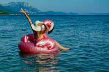 Woman With White Straw Hat On ...
