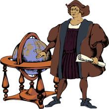 Christopher Columbus. Vector Illustration