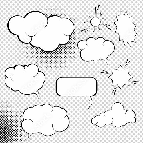 Comic bubbles collection. Speesh Design Elements Set