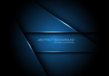Abstract Blue Metallic Overlap...