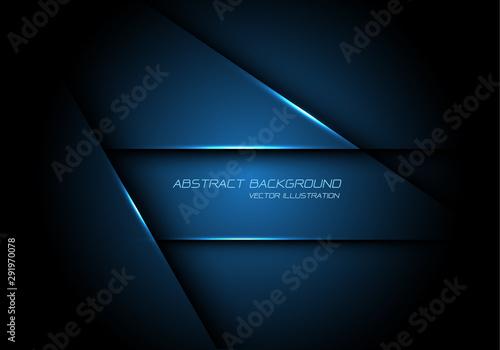 Fotografie, Obraz Abstract blue metallic overlap design modern futuristic technology background vector