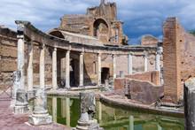 Italy, Tivoli, Teatro Marittimo At Hadrian's Villa