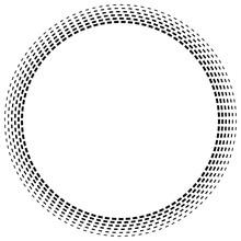 Radial Dashed Line Circles. Ga...