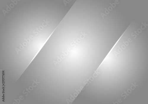 Cuadros en Lienzo Abstract grey metallic glossy blank space background texture vector