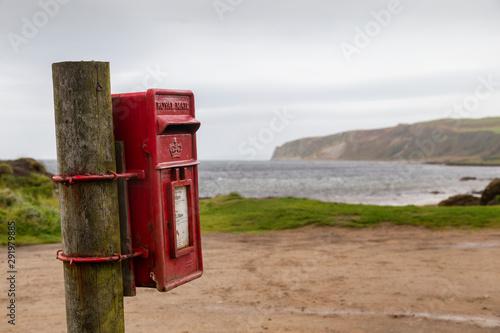 Photo rural postbox on arran