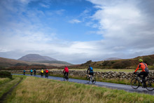 Cyclists On The Island Of Arran