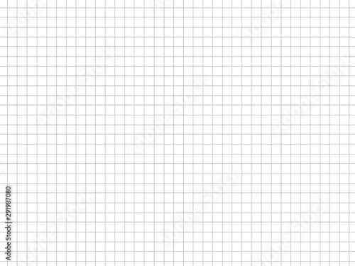sheet of paper, seamless texture of graph paper, grid paper sheet, gray straight lines on white background, Illustration business office and the bathroom wall Canvas-taulu