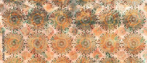 mandala colorful vintage art, ancient Indian vedic background design, old pai...