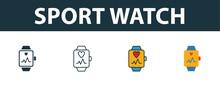 Sport Watch Icon Set. Premium ...
