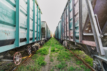 Colorful Railway Freight Wagon...