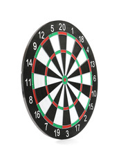 New Empty Dart Board Isolated On White
