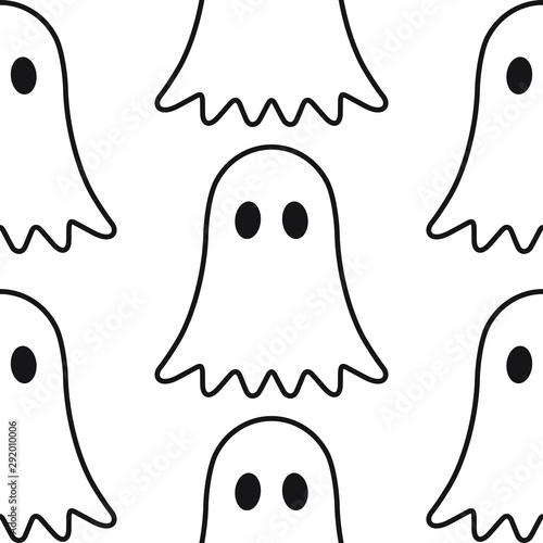 ghost vector illustration Wallpaper Mural