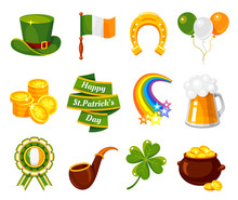 Saint Patricks Day Flat Vector...