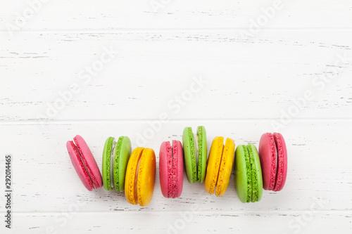 Keuken foto achterwand Macarons Cake macaron or macaroon sweets