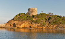 Diana Genoese Tower In Corsica Island, France.