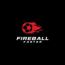 Ball Fire Logo Template Design...