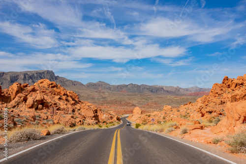 Beautiful landscape around Valley of Fire State Park