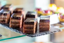 Closeup Of Chocolate Layer Cak...