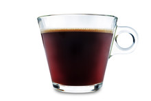 Coffee Drink In Glass On A Whi...