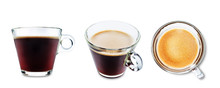 Coffee Drink In Glass On A White Isolated Background