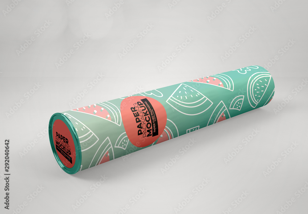 Fototapety, obrazy: Paper Tube Packaging Mockup