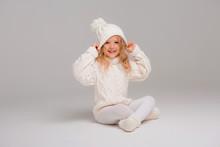 Winter Clothes. Portrait Of A ...